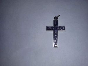Silver & Blue Cross Charm for Sale in Chicago, IL