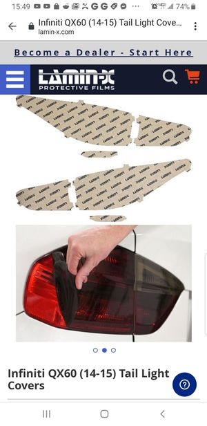 Lamin-x headlight and taillight tinted lense for Sale in Dublin, OH