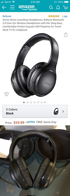 New Wireless Wired Bluetooth Headphones with Active Noise Cancelling ANC for Sale in Riverside, CA