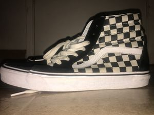 black checkered high top vans for Sale in Stockton, CA