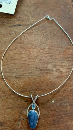 Sterling Silver Necklace with Stone Pendant for Sale in La Mesa, CA
