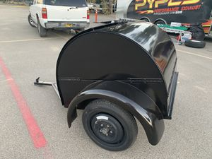 Custom built TEARDROP CAMPING TRAILER- all steel- awesome trailer for Sale in Hollister, CA