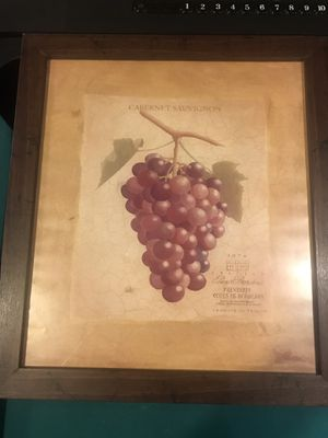 Grape Wine Bar Picture with frame for Sale in PA, US