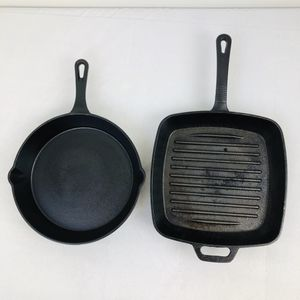 """Sedona Cast Iron 10"""" Round Skillet / Frying Pan & 10"""" Square Grill Pan Set -2519 for Sale in Geneva, IL"""