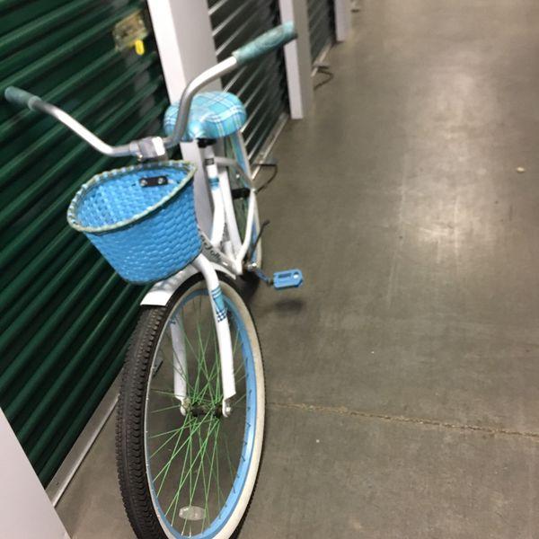 Mountain bike and girls cruiser bike.