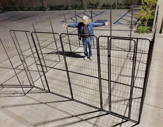 New in box 72 inch or 6 feet tall x 32 inches wide each panel x 16 panels exercise playpen fence safety gate dog cage crate kennel for Sale in Covina,  CA