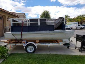 Fiberglass pontoon and zieman trailer for Sale in Moreno Valley, CA