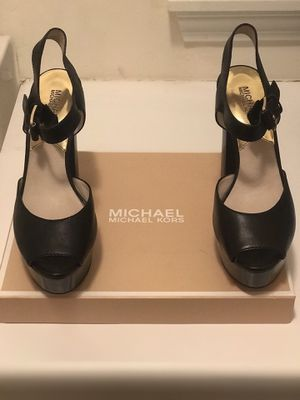 Women's Shoes - Black Platform Peep Toe Michael Kors for Sale in Boston, MA