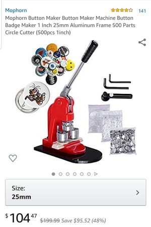 Button Maker for Sale in San Bernardino, CA