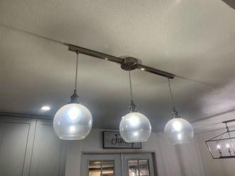 Kitchen Island light fixture-Brush Nickel for Sale in Norwalk,  CA