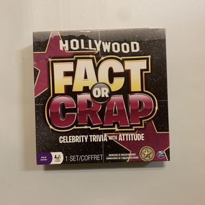 Fact or crap Hollywood adult board/card game for Sale in CANAL WNCHSTR, OH