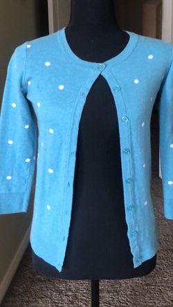 Blue And White Polka Dot Cardigan for Sale in Hesperia,  CA