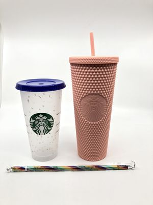 Starbucks Pink Matte Studded Tumbler/Confetti Cup for Sale in Hanover, MD