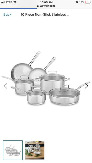 10 Piece Non-Stick Stainless Steel Cookware Set - KC2SS10LS for Sale in Scottsdale, AZ