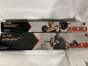Brand new curl bar and straight bar for standard weights for Sale in Boston, MA