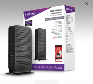 Netgear cable modem router combo for up to 400mbps for Sale in Port St. Lucie, FL