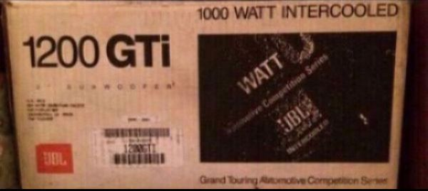 """JBL 1200 GTi Grand Touring Automotive Competition Series 1000 Watt Intercooled 12"""" Subwoofer"""