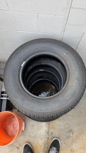 (2) Trailer tires st 205/75r14 Hi-Run for Sale in Lakewood, CA