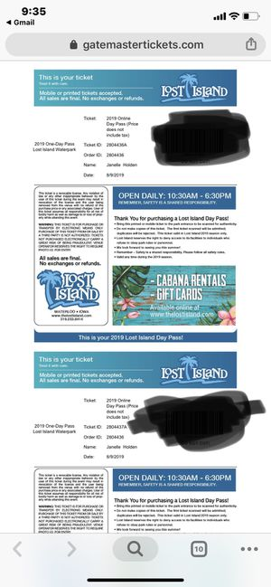 Lost island tickets for Sale in Cedar Rapids, IA