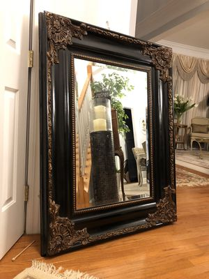 """49""""X37"""" Large Black Antique Style Wooden Mirror for Sale in Bristow, VA"""