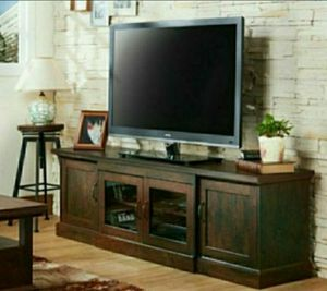 """68.5"""" Tv Stand in Vintage Walnut Finish for Sale in Diamond Bar, CA"""