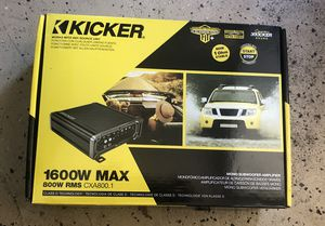 Kicker CXA800.1 car amplifier for Bass NEW espanol/English for Sale in Chicago, IL
