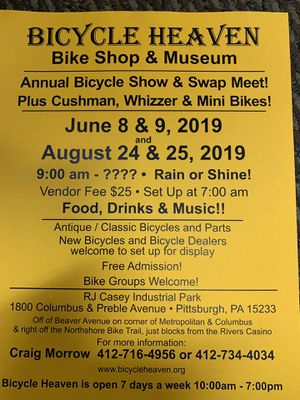 Bike show swap meet this June 8 & 9 2019 for Sale in Pittsburgh, PA