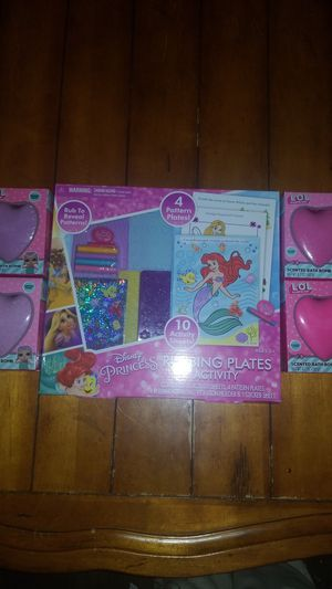 New girls Disney Little Mermaid craft art kit toy LOL bath bombs with surprises inside birthday gift Easter basket filler for Sale in Gilbert, AZ