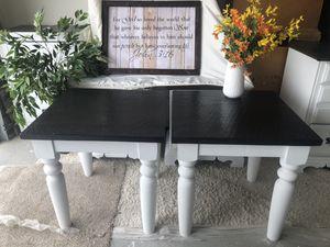 Beautiful farmhouse style end tables for Sale in Surprise, AZ