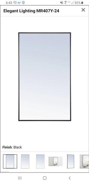 """Elegant Lighting MR4074BK Black Eternity 40""""x 24"""" Rectangular Metal Framed Wall Mirror for Sale in Southwest Ranches, FL"""