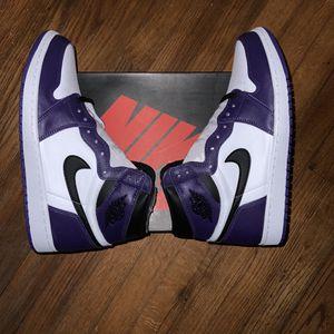 Air Jordan 1 Court Purple White for Sale in Dallas, TX