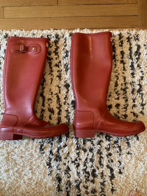 Women's Hunter Rain Boots (red) for Sale in Washington, DC