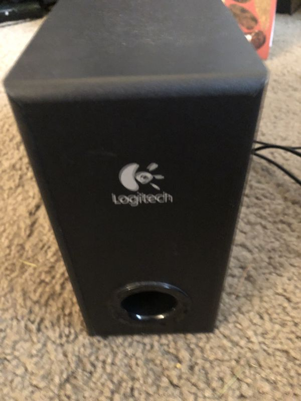 2e590fcfc56 Computer and Record Player Speakers with Sub Logitech S220 2.1 ...