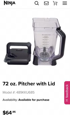 Ninja Blender Pitcher with lid for Sale in Downey, CA