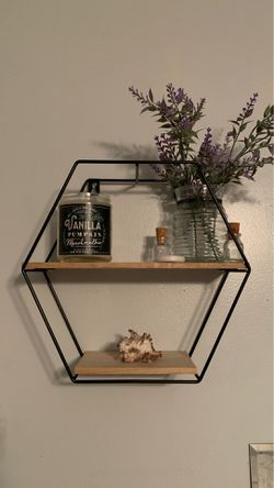 Floating Hexagonal Shelf Wall Decoration for Sale in Myrtle Beach,  SC
