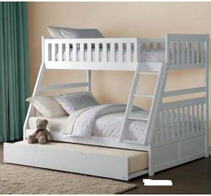 Twin overfull bunk bed with trundle for Sale in Chandler, AZ
