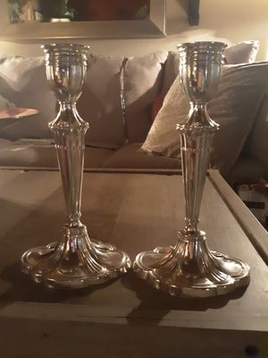 Silver candle holders for Sale in Elgin, IL