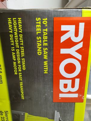 "RTS10G Ryobi 10"" 15 AMP Table Saw for Sale in Margate, FL"