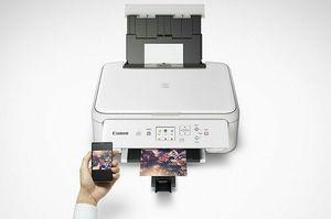 White CANON pixma printer for Sale in Detroit, MI