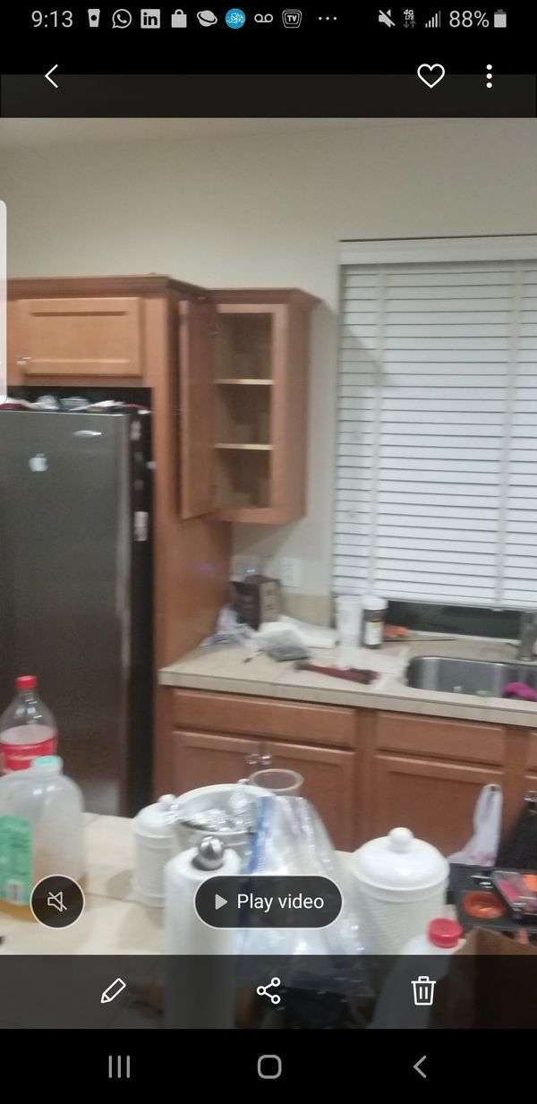 Full kitchen cabinets for sale. Appliances sale as well separately