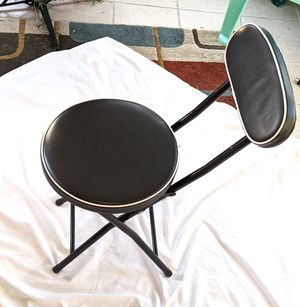 Black cushioned folding chair for Sale in Paw Paw, MI