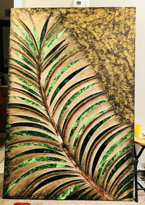 Large Glass & Hand Painted Canvas Art for Sale in Hampton, VA