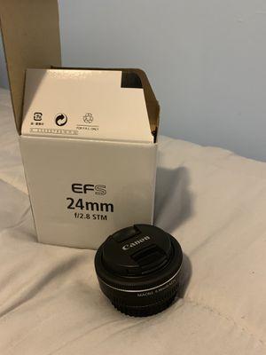 Canon EFS 24mm f2.8 STM prime lens for Sale in Miami, FL