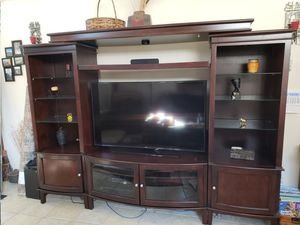 Wood entertainment center for Sale in North Las Vegas, NV