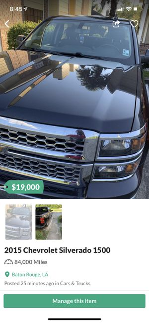 2015 Chevy Silverado 85kmiles for Sale in Baton Rouge, LA