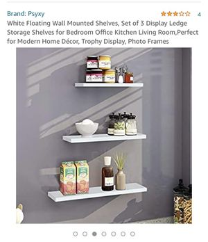 White Floating Wall Mounted Shelves - set of 3 for Sale in Queens, NY