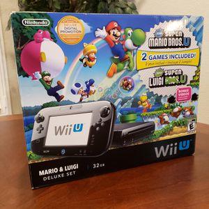 Nintendo Wii U Deluxe 32GB Black Console Complete CIB Mint Condition for Sale in Clovis, CA
