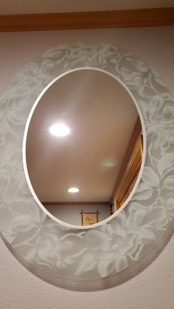 Smoked rose oval mirror for Sale in Seattle,  WA