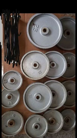 """1""""hole weight plates for Sale in Chicago, IL"""