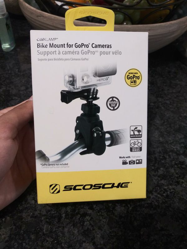 Bike Mount for Go pro Camera. (GoPro camera not included)